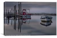 Reflection at Dusk on a High Tide, Canvas Print