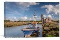 Thonham Staithe  A Sunny Day in April, Canvas Print