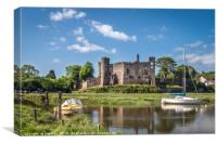 Laugharne Castle, Canvas Print
