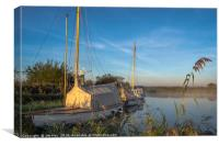Traditional Broads Boats, Canvas Print