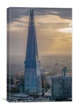 The Shard on a Moody December Evening, Canvas Print