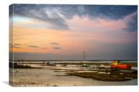 Sunset at Thornham Old Harbour, Canvas Print