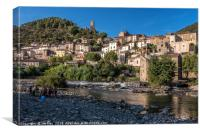 Roquebrun  South of France, Canvas Print