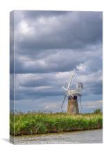 St Benets Mill Norfolk Broads, Canvas Print