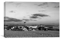 Cley Beach North Norfolk  -  Monochrome , Canvas Print