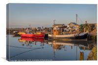 All Quiet in the Harbour at Brancaster Staithe, Canvas Print
