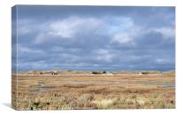 Blakeney Point Saltmarsh Norfolk, Canvas Print
