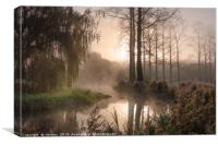 The River Wensum Winter Sunrise, Canvas Print