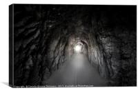 Stone tunnel under a mountain, Canvas Print