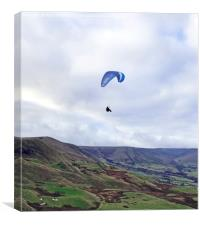 Paragliding in the Peak District, Canvas Print