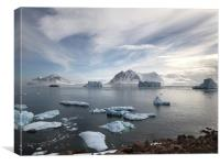 View from Red Rock Ridge, Antarctica, Canvas Print