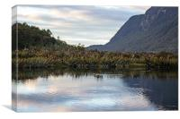 Mirror lake, between Te Anua and Milford Sound, Ne, Canvas Print