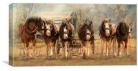 Six On The Hitch, Canvas Print
