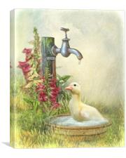 Splish Splash l Was Taking A Bath ...., Canvas Print