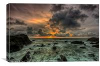 Hartland Quay Sunset, Canvas Print