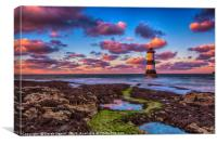 Trwyn Du Lighthouse , Canvas Print