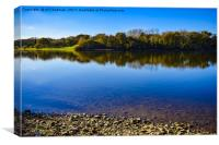 Chard Reservoir in Somerset Uk  , Canvas Print