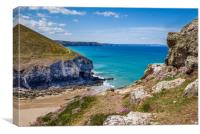 Chapel Porth Cornwall, Canvas Print
