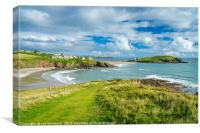 Challaborough Bay and Burgh Island Devon England, Canvas Print