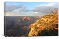 Sunset over the Grand Canyon, Canvas Print