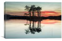 Fire in the sky at Loch Assynt, Canvas Print
