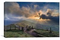 Hope Valley from the Great Edge, Peak District Nat, Canvas Print