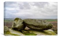 Boulders of Helmon Tor, Canvas Print