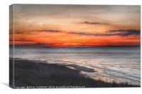 Red sky, Canvas Print