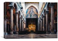 Interior of Pisa Cathedral in Italy, Canvas Print