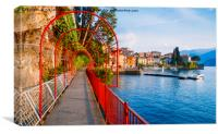 Walk of Love on Lake Como, Italy, Canvas Print