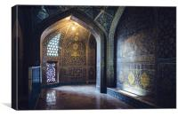 Mysterious Corridor in Persian Mosque, Canvas Print
