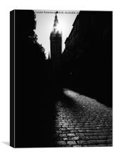 Monochrome Giralda Bell Tower, Seville, Andalusia,, Canvas Print