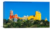 View of Pena National Palace, Sintra, Portugal, Canvas Print
