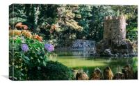 Valley of the Lakes, Pena in Sintra, Portugal, Canvas Print