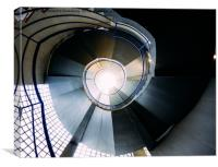 Hypnotic spiral convoluted staircase, Canvas Print