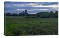 Ely Cathedral at Dusk, Canvas Print