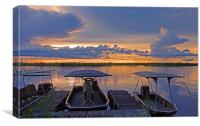 Sunset at the Chobe River, Canvas Print