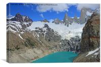 Emerald Lake at the footsteps of Fitz Roy Towers, Canvas Print