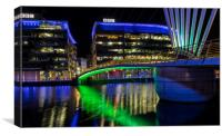 Media City at Salford Quays near Manchester, Canvas Print