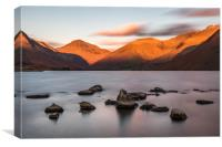 Wastwater at Sunset, Canvas Print