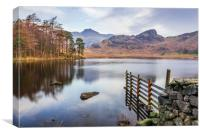 Blea Tarn and the Langdales, Canvas Print