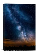 The Milky Way and a shooting Star, Canvas Print