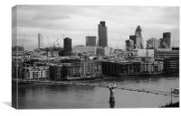 City of London skyline from from Bankside, Canvas Print