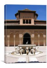 The Alhambra in Granada, Spain, Canvas Print