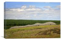 Camster Cairns in Caithness, Scotland, Canvas Print