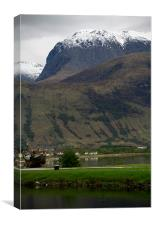 Ben Nevis from Corpach, Lochaber, Scotland, Canvas Print