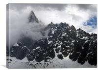 French alps, Canvas Print