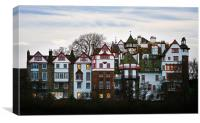 Edinburgh, Ramsay Gardens, Old town, Canvas Print