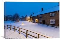 A Winters Snow Storm in Brigstock Northamptonshire, Canvas Print