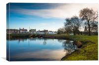Scenic views over the still waters of the Causeway, Canvas Print